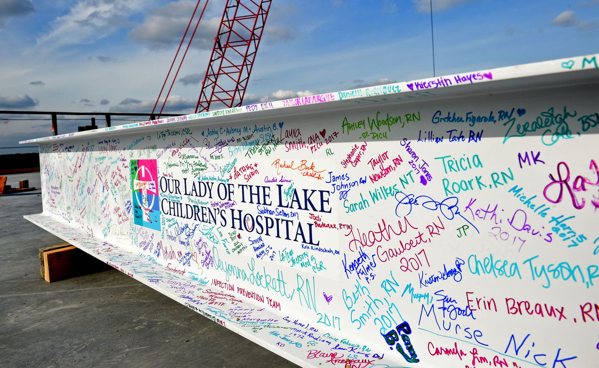 "Our Lady of the Lake Children's Hospital Holds ""Topping Out"" Ceremony"